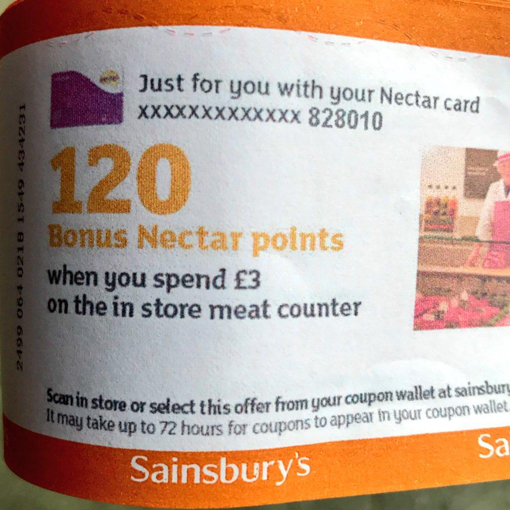 sainsburys nectar coupon