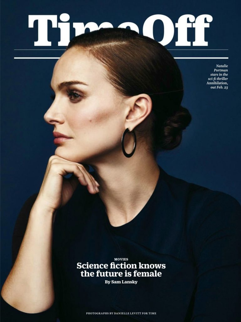 Natalie on the cover of Time Off Magazine (2018)