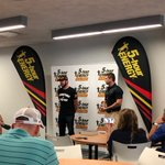 The champ stopped by to visit @5hourenergy guests at @DISupdates before the #Daytona500.