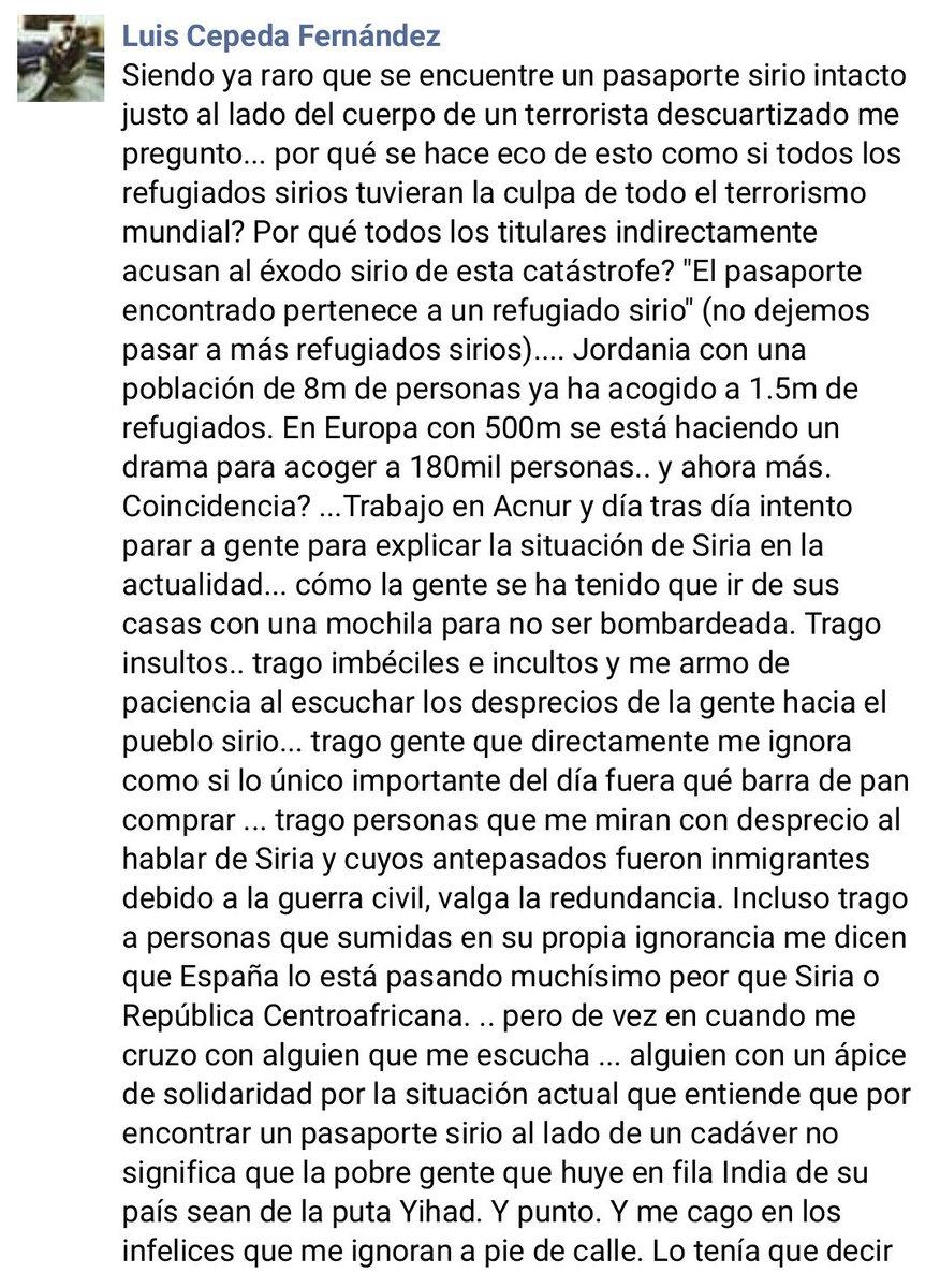 #LasManosDeCepeda Comparto en su totalid...