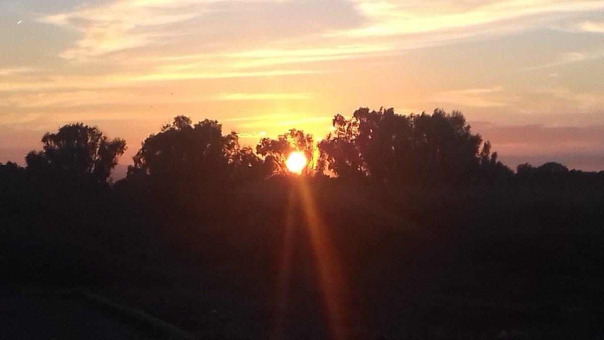 Así se despide el sol de este 18 de febr...