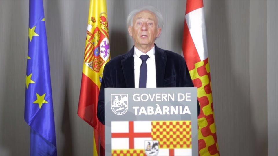 El presidente del Govern de Tabarnia le...