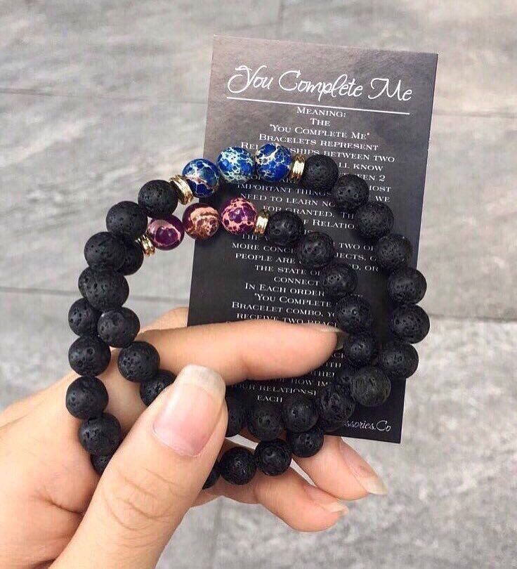 Obsessed with our You Complete Me Bracelets from AlphaAccessories.Co 💙💜