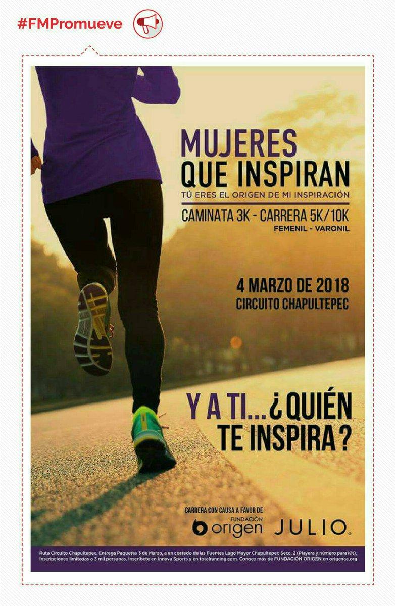 Carrera / caminata #MujeresQueInspiran @...