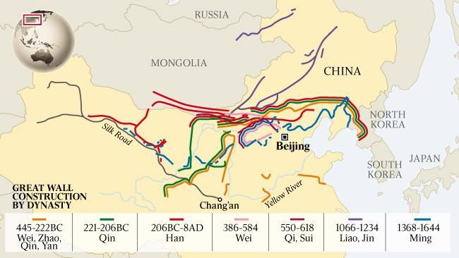 Simon Kuestenmacher On Twitter Map Shows The Great Wall Of China