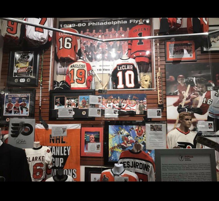 What a win!  Here is a taste of some of the game-used @NHLFlyers gear that will be on display at The Museum of Sports @MoSPhilly!  Please RETWEET and FOLLOW ME for updates and a chance to win great prizes! #FlyersTalk #Flyers