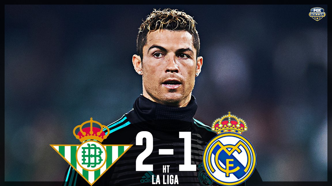 👀 Real Madrid down at the half to Real Betis.