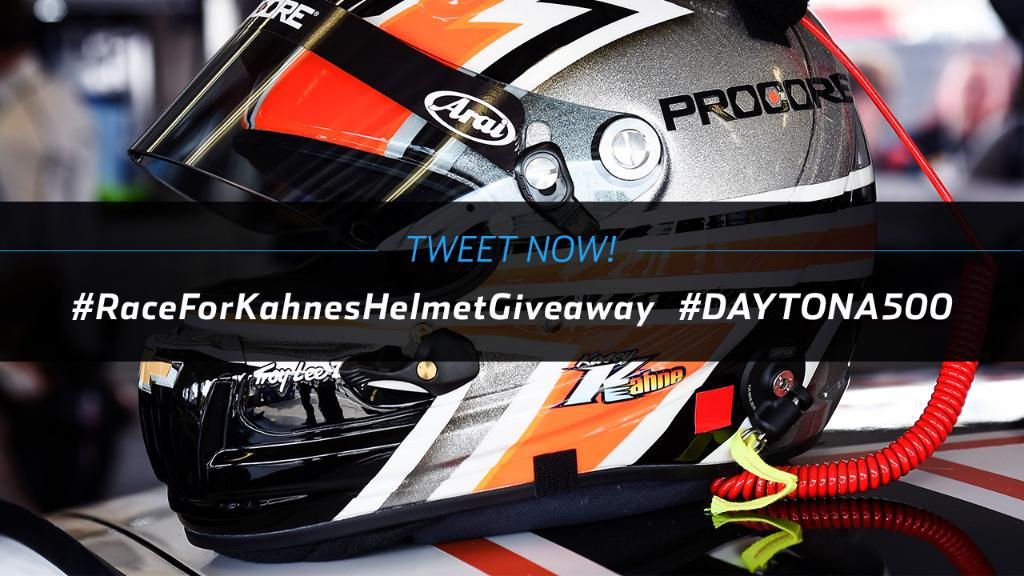 The best kind of hat head. The first 500 entrants to tweet these hashtags have the chance to win @kaseykahne's #DAYTONA500 helmet! NPN. 2/18. Rules: https://t.co/qBfGWUjyoB