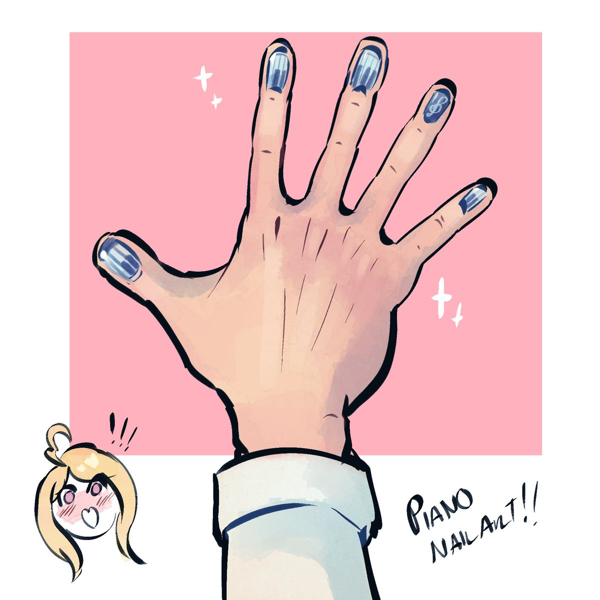 [ndrv3] kicking off #kaemugiweek2018 with a manicure!! tsumugi wanted to make up for last time