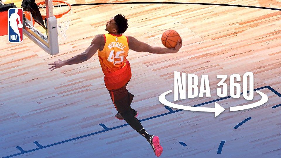NBA 360: @spidadmitchell wins the #VerizonDunk! https://t.co/Qvv0Yago3Y