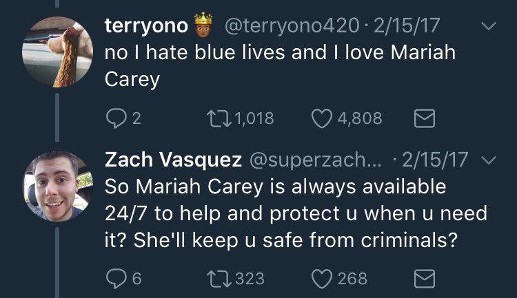 1. mariah is skinny. fuck blue lives