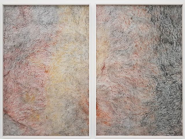 #GiorgiaSeveri #OnceThereWasTheOcean #frottage #pigment on #paper @studiolacitta #Verona https://t.co/cJ8YJXUleu