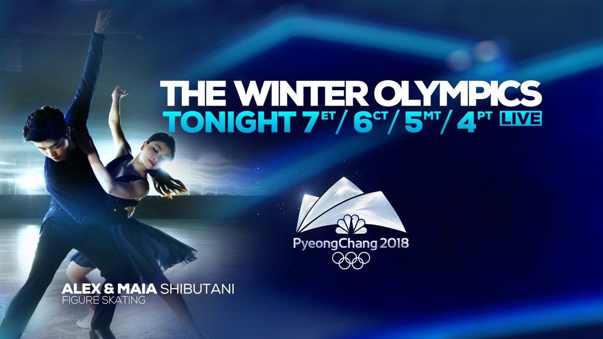 .@MaiaShibutani &  are@AlexShibutani 1 of 3 strong  tea#Americanms as the Ice Dance competition begins &   starts@maddiebowman her gold medal-defense in ski halfpipe. The  continu#WinterOlympicse Sunday night at 7 on  & stre@NBC10aming LIVE here: https://t.co/KVTuPvzCg6