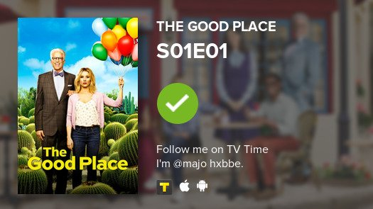 I've just watched S01E01 of The Good Place! #goodplace  #tvtime https://t.co/DBSRLJ7jev https://t.co/6cMhW84iwF
