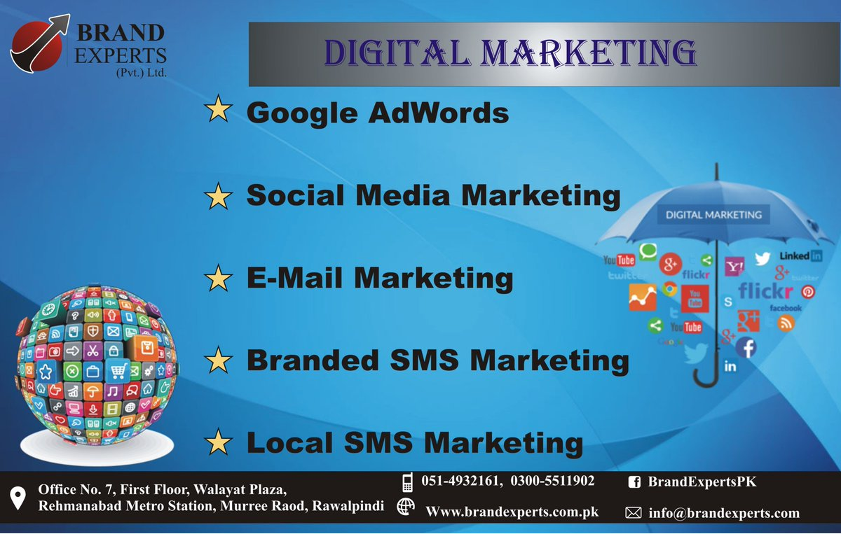We are here to Promote Your Business.  #BrandExperts #SMS #BrandedSMS #LocalSMS #Islamabad #SocialMediaMarketingSolutions #OnlineAdvertising #Branding #BrandAwareness #BusinessPromotion #Adverts #Advertising #FbAds #NarrowTargetting #FbPromotion #Engagement #Reach #Impressions<br>http://pic.twitter.com/FqmO1ADyOZ