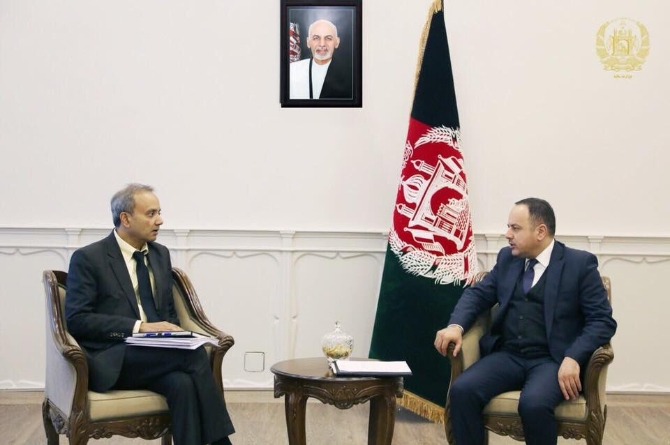 Yesterday, I met with the World Bank Country Director to talk about financing mechanism of ARTF for Afghanistan for 2018 and EQRA project.