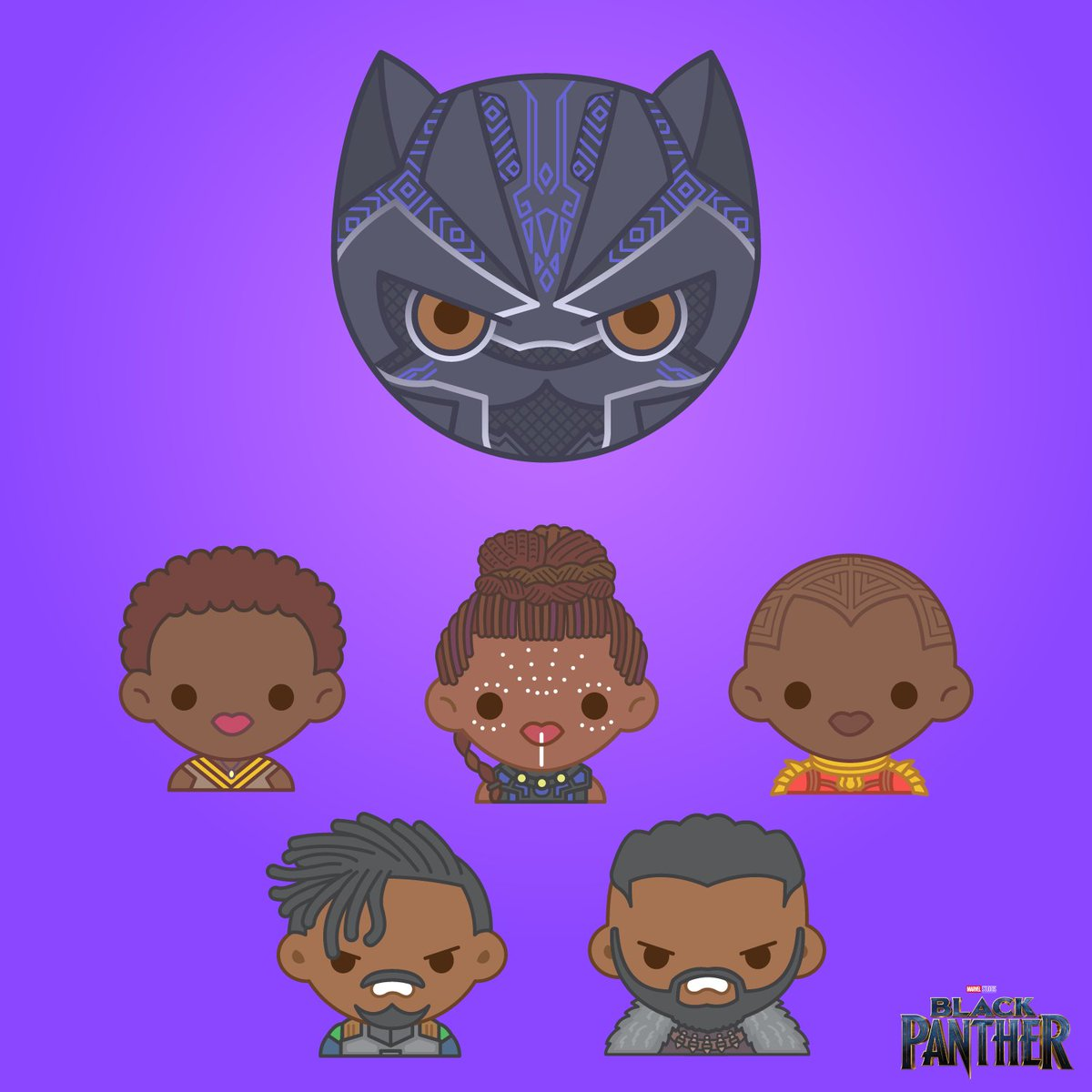 100 Soft ᴗ On Twitter Congrats To Blackpanther For A Historic Opening It S Also Been Pretty Amazing Seeing Everyone Use The Emojis I Made All Weekend Nakia Okoye Killmonger Shuri