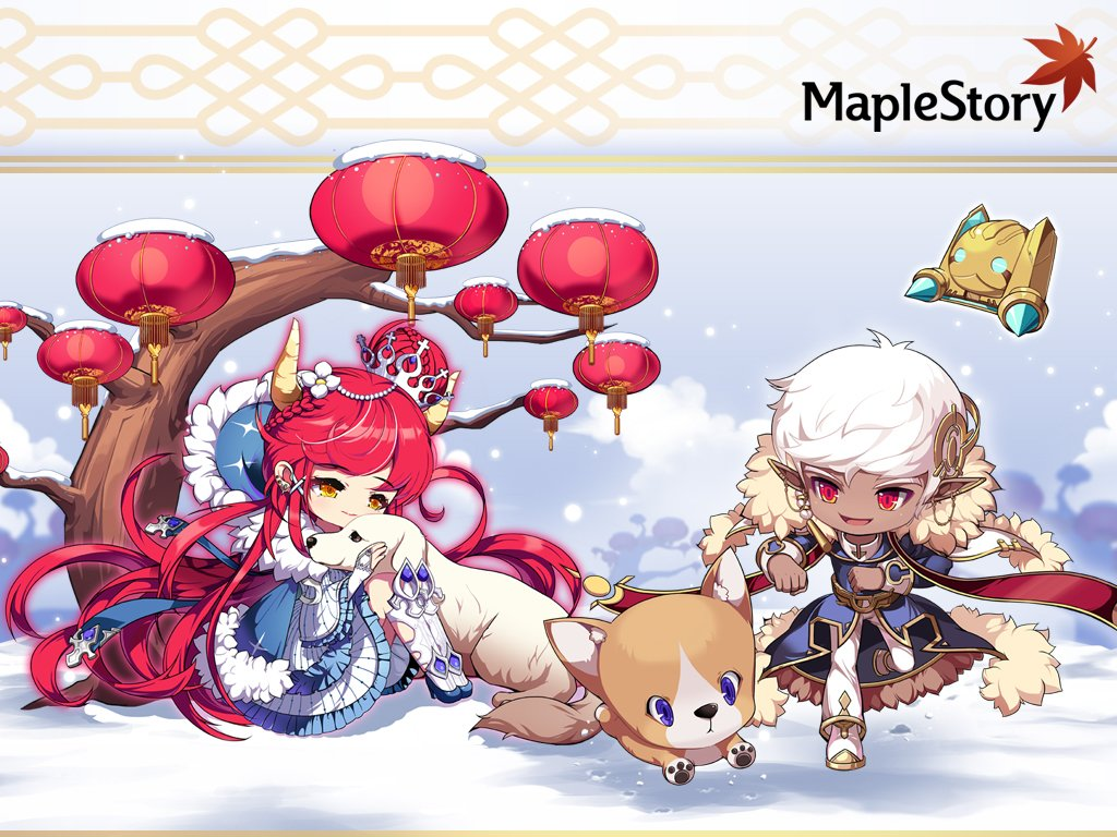 Maplestory Celebrate Lunar New Years With This Adorable Cadena And Illium Desktop And Mobile Wallpaper You Can Dl Different Sizes Here T Co H7j5vs03ml T Co Oobr6yyzvd