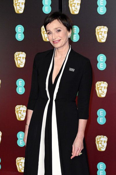 e306f1b6f5923 ... http   coolspotters.com actresses kristin-scott-thomas and clothing christian-dior-spring-2018-couture-contrast-stripe-longsleeve-dress medium-4596139  …