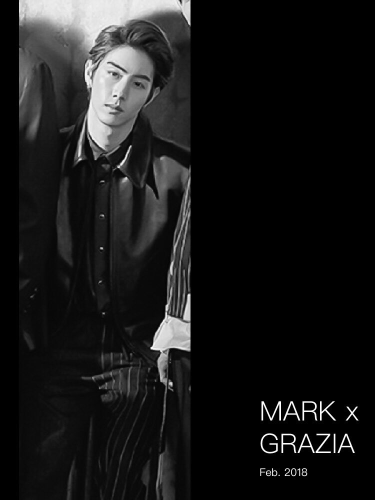 - Mark x GRAZIA Feb. 2018  He's the boss...