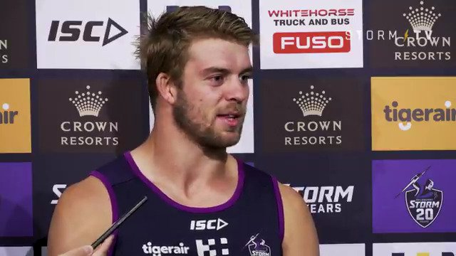 """""""I thought it was the end of the world. But really it was just a bung knee.""""  Incredible perspective from @clwelch94 as he reflects on last year's ACL injury #purplepride"""