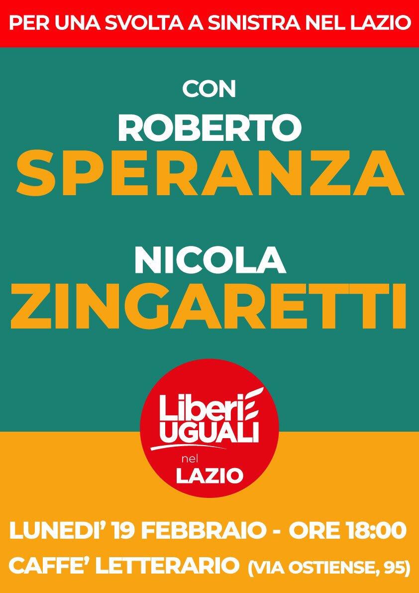 Oggi a Roma con @nzingaretti #LiberiEugu...