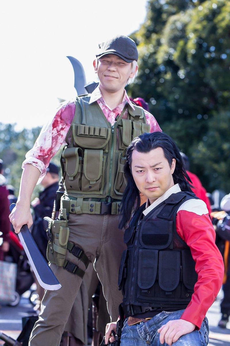 先日のワンフェスでの写真いただきました!亜人の佐藤さんと田中くん  田中:みぞっちくん 撮影:ngmくん