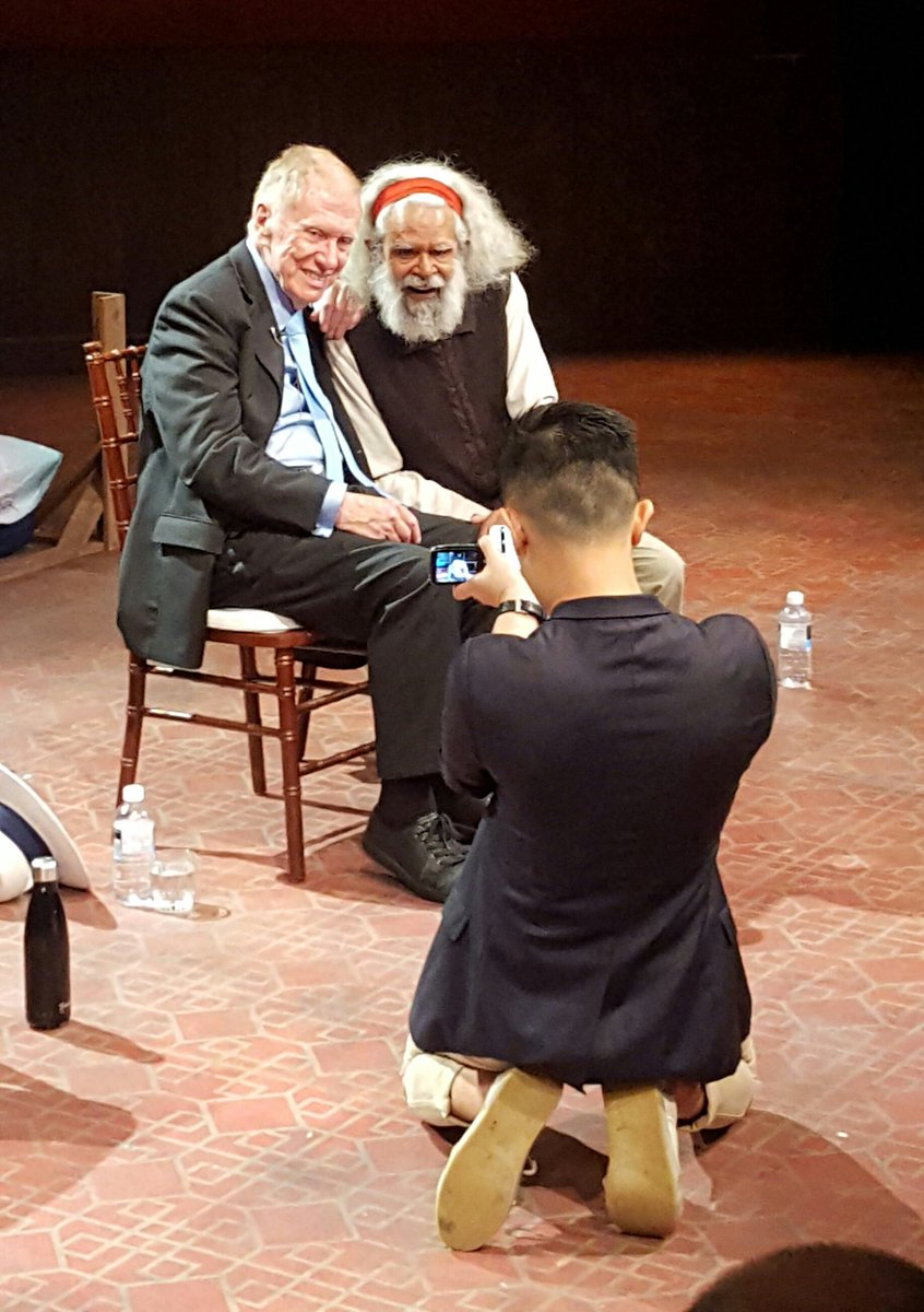 Thank you to Justice Michael Kirby and Uncle Jack Charles interviewed by @mrbenjaminlaw for being open and honest. There were many laughs and a few tears at @BelvoirSt #HappyMardiGras <br>http://pic.twitter.com/a7XShaHEmE