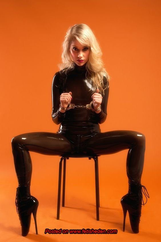 You might be cute in brown latex catsuit...