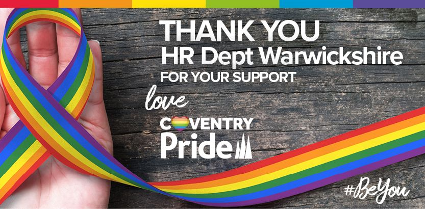 Were excited to announce that @HRDeptSWar is a new sponsor of #covpride18.   Well be sharing more information about this lovely business very soon.  Everyone at #CoventryPride would like to thank you for your support.  #BeYou   @cwchamber @coventry2021