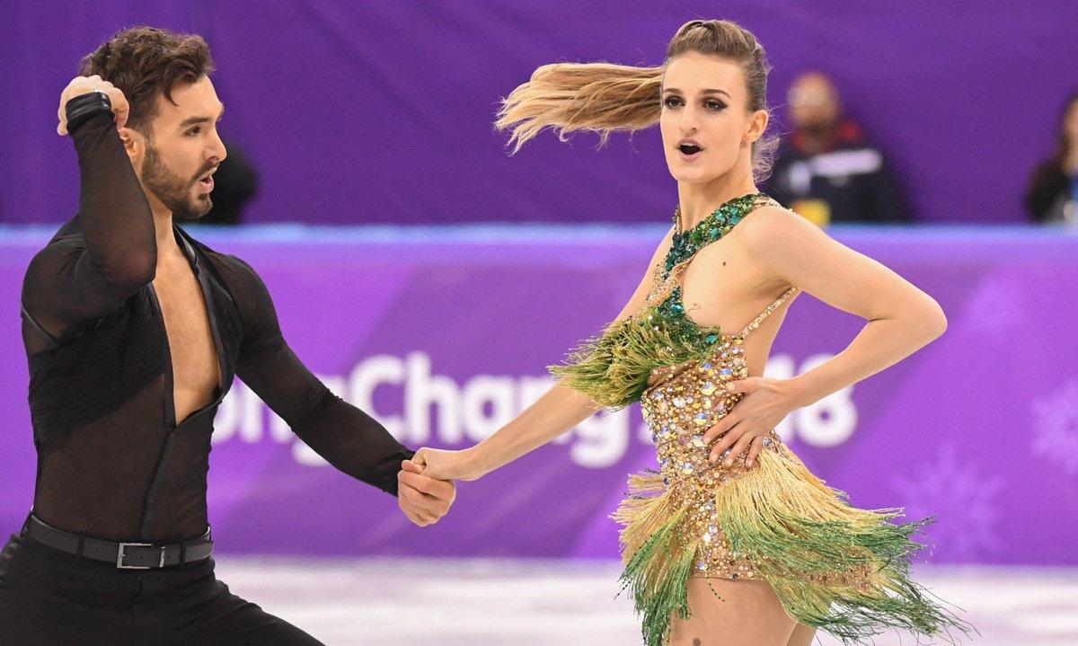 Xinhua Sports Twitter French Ice Dancers Guillaume Cizeron Wardrobe Malfunction