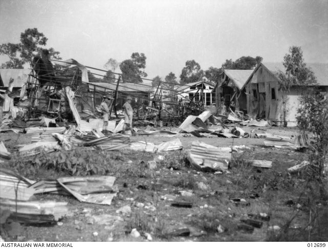 #OTD in 1942 Darwin was bombed killing 252 Allied service personnel & civilians. The air raids continued until November 1943. #LestWeForget
