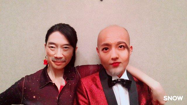 「レオン」知英と竹中直人の顔が入れ替わってるー!?キャストの顔交換画像が到着 #...