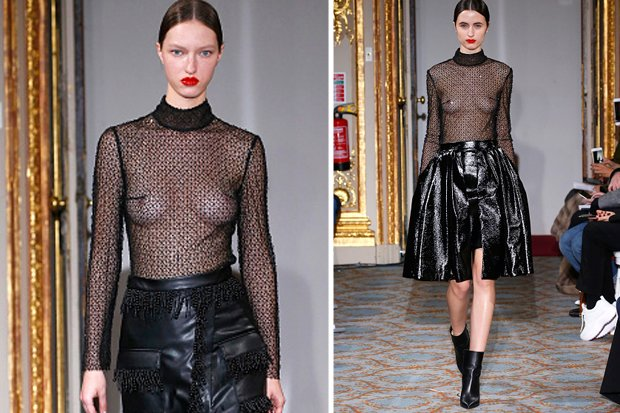 Something See through fashion runway models join