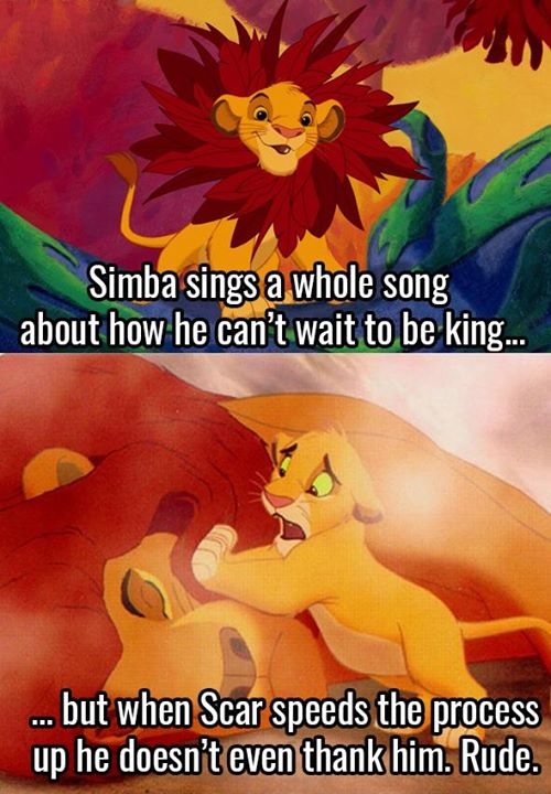 That's bad manners Simba, get your sh*t...
