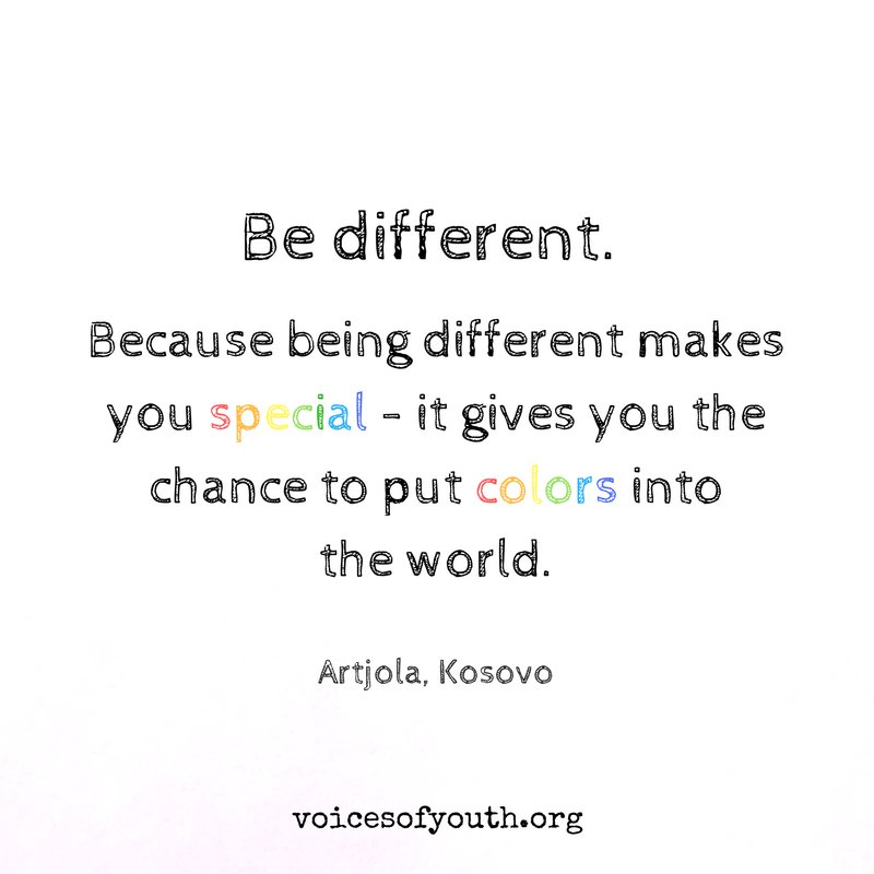 Be different.🧡💛💚💙💜🖤 https://t.co/4kmzEeY...