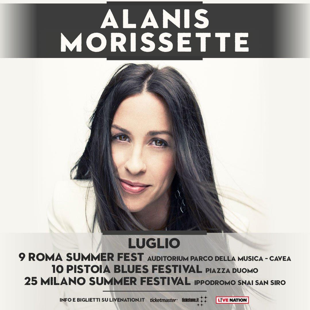 📌 9 luglio | @Alanis @ #ROMASUMMERFEST - @AuditoriumPdM - Roma (Cavea) ↬ Biglietti disponibili dalle ore 10.00 di mercoledì 21 febbraio su ticketmaster.it, ticketone.it e in tutti i punti vendita autorizzati.