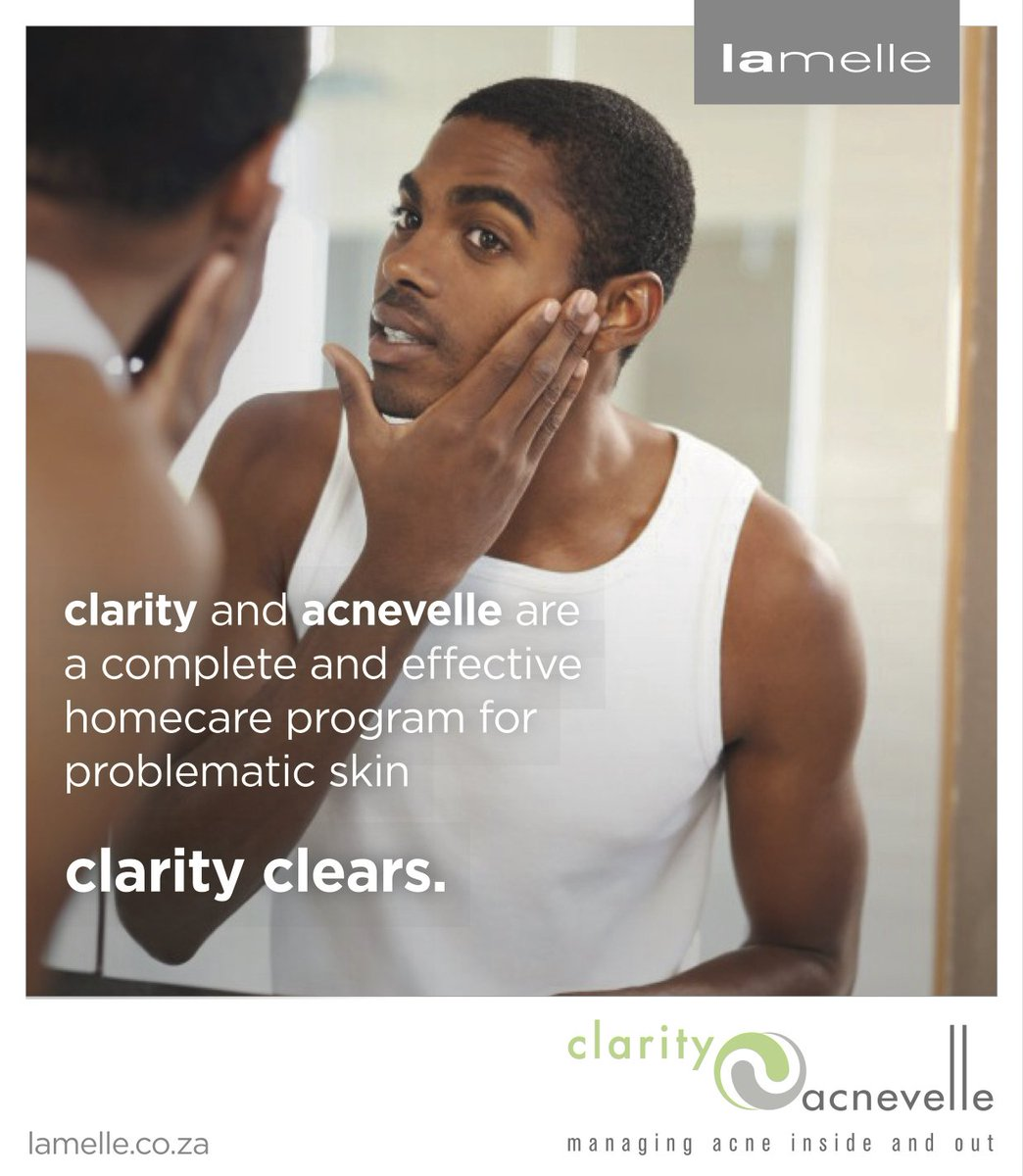 Clarity is a complete home care solution for problematic skin. Ask your skincare professional about Clarity now. #ClarityClears