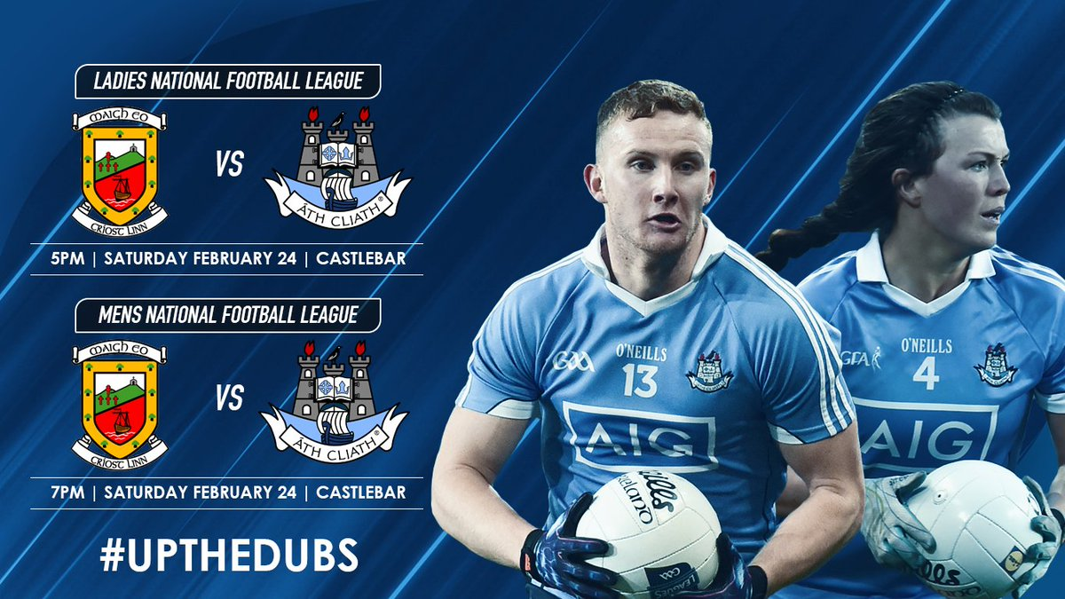 test Twitter Media - It's a Dublin football doubleheader again this Saturday, as our Mens Senior team & @dublinladiesg both travel to Castlebar to face @MayoGAA in the National Football Leagues 💯 ➡️ https://t.co/KPdyh40KWU https://t.co/aOsKqErlxy
