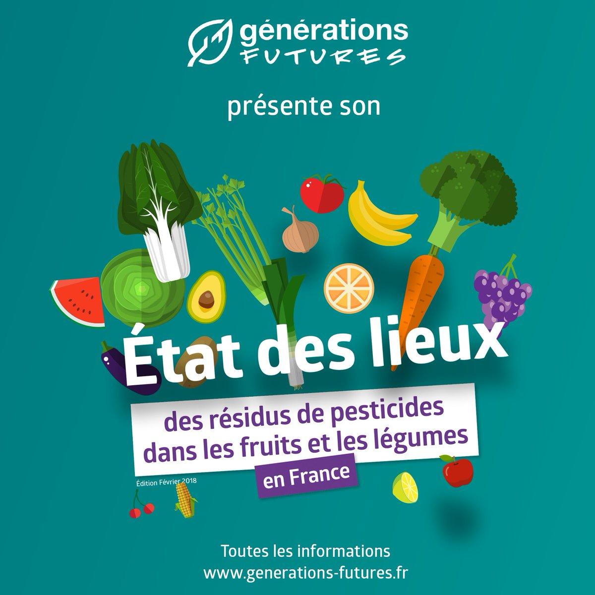 Aujourd'hui @genefutures rend publique un rapport inédit sur l'état des lieux de la présence des résidus de #pesticides dans les #fruit&légumes  ven#nonbiodus en France. #Edition1