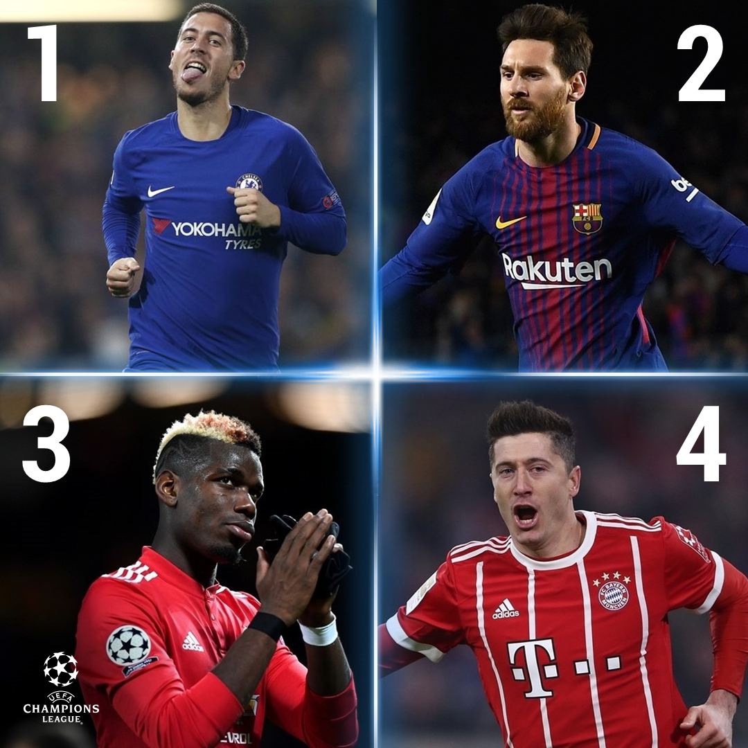 Hazard 💪 Messi 👍 Pogba 👌 Lewandowski 👊...