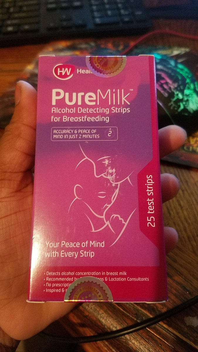 PureMilk/™ Breast Milk Alcohol Test Strips 25ct Highly Sensitive Breastfeeding Milk Testing Strips Easy /& Accurate Monitoring Kit Fast /& Reliable Mothers Breast Milk Analysis