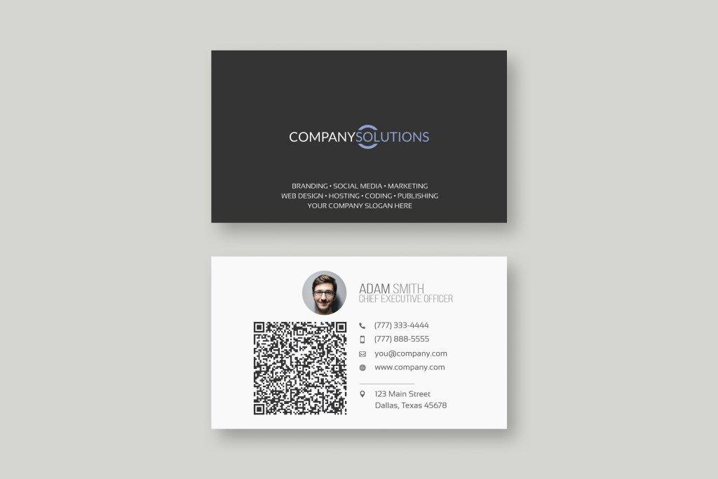Chris baldelomar on twitter modern qr code business card template 1135 am 26 feb 2018 friedricerecipe Images