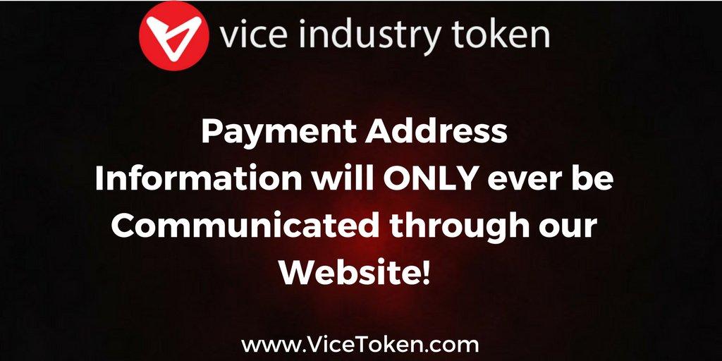 Vice Industry Token description