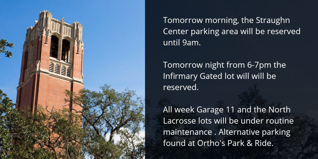 UF Transportation and Parking Services on Twitter: \