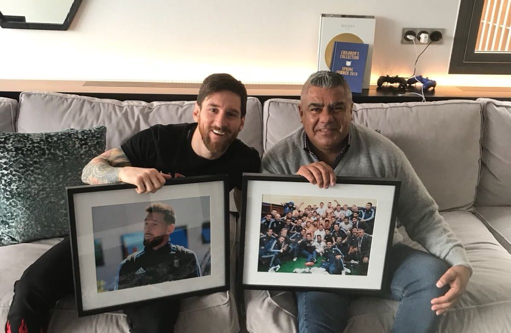 Image result for Claudio Tapia with messi