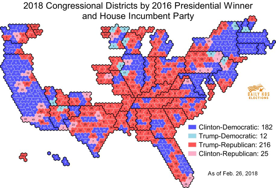 Daniel Donner On Twitter Congressional District Hexmap Updated