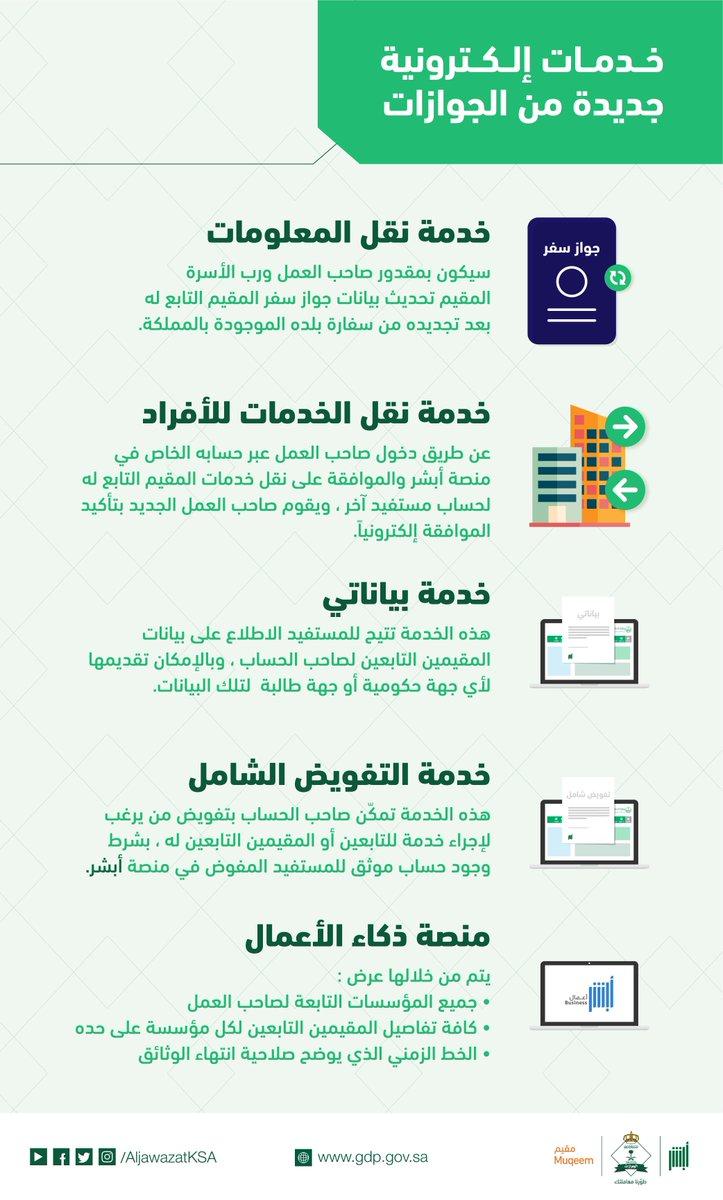 الجوازات السعودية On Twitter أهلا بك في حال وجود عقد بخدمة اجير او خدمة مساند و وتم دفع رسوم الاستقدام يمكنك ذلك سعدنا بتواصلك
