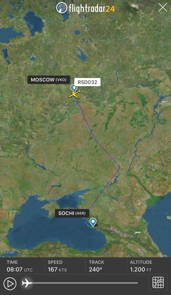 Путин на днях летал в Сочи на том же самолёте, который перевозил кокаин