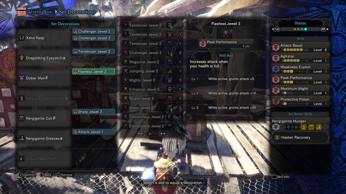 My Endgame Builds HR181+ : MonsterHunter